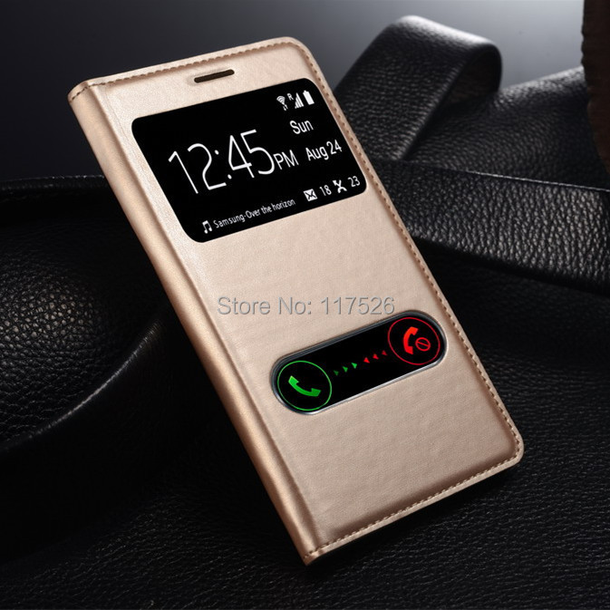 View Open Window PU Leather Back Cover Battery Housing Flip Case for Samsung Galaxy S3 SIII  3 i9300 9300 Mobile Phone Cases(China (Mainland))