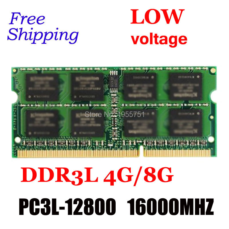 DDR3L 4GB / 8GB 1600MHz PC3-12800 1.35V KVR16LS11/4 KVR16LS11/8 Non-ECC CL11 SODIMM Intel Memory Ram For computer Laptop Memory(China (Mainland))