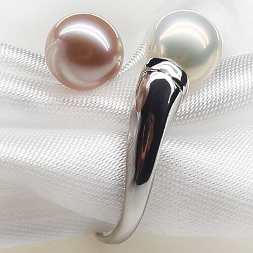Waterdrop Natural Pearl Rings 925 Sterling Silver Rings Top Quality Real Pearls Multicolor Pearls Customized Lover Gifts(China (Mainland))