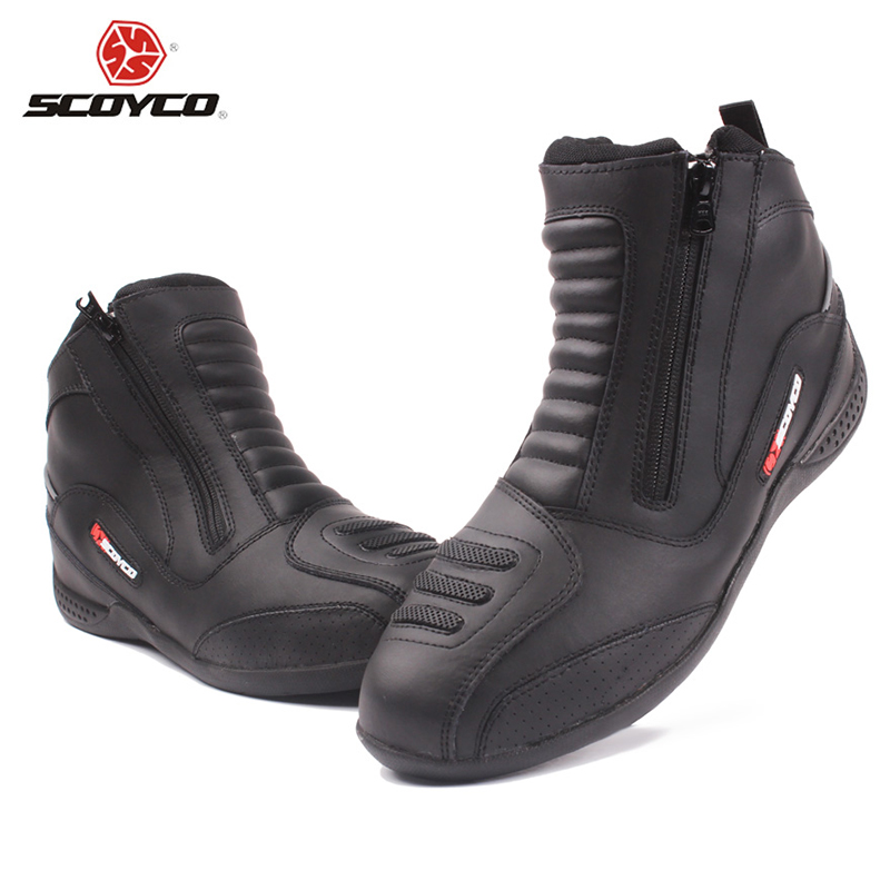SCOYCO Motorcycle Motocross Off-Road Touring Ankle Racing Boots Shockproof Motorbike Street Racing Protection Boots Shoes(China (Mainland))