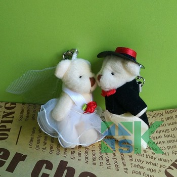 Free shipping, 100pair/lot, 4.5/ 6.5cm Tinny teddy wedding bear in pairs, good as wedding gifts Party Decor/Decoration
