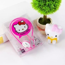 2016 Ear-Hook Hello Kitty earphone for Iphone samsung MI LG Huawei HTC kids earbuds mobile phone Doraemon headphone best gift