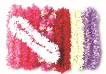 party supplies hawaiian flower lei garland wreath cheerleading products artificial fabric necklace 50pcs/lot wholesale HH0056