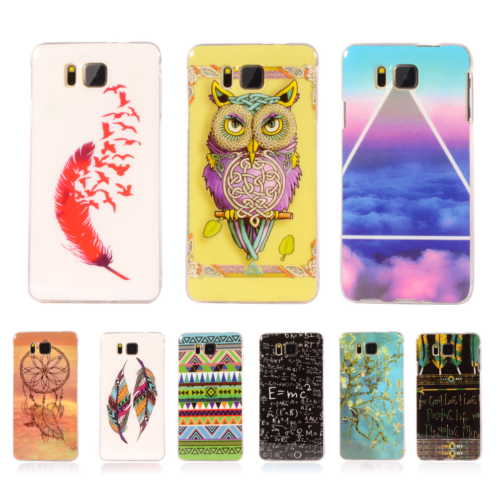 Pattern Rubber Tribe Soft TPU Cover For Samsung Galaxy Alpha G850 G850Y G850F G8508S G8509V Mobile Phone Protective Case(China (Mainland))