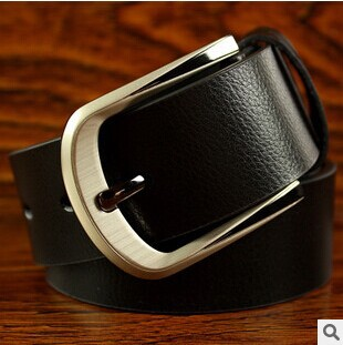 The new 2015 pin buckle belt men fashion ladies leisure obi Pure color free shipping(China (Mainland))