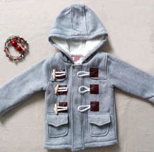 2015 Hoodies Sweatshirts spring and autumn fashion boys horn button cashmere windbreaker jacket coat child outerwear(China (Mainland))