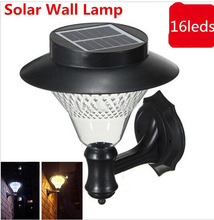 Outdoor Garden/ Yard/ Pathway Solar Wall Lamp Popular Solar lamps 3 x 1200mAh Ni-MH Battery Solar Lamps Decoration wall light(China (Mainland))