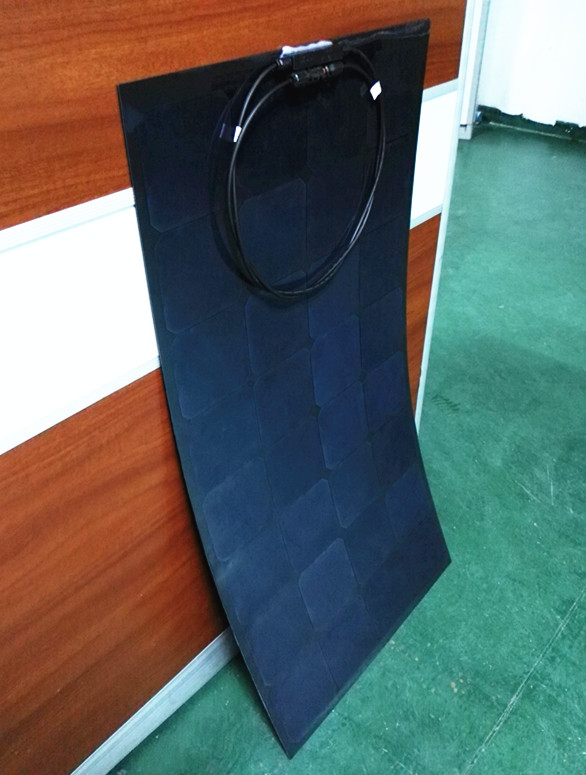 High efficiency Sunpower cell Semi Flexible solar panel 100W Black Color material OEM Service offer(China (Mainland))