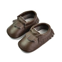 Genuine Leather Baby Moccasins Tassels Shoes Newborn Toddler Soft Footwear First Walkers Anti-slip Infant Shoes Size 4.5-8(China (Mainland))