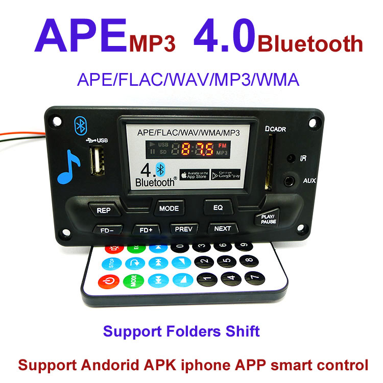 12v Bluetooth MP3 Player Module SD USB digital LED FM Stereo Car MP3 decoding