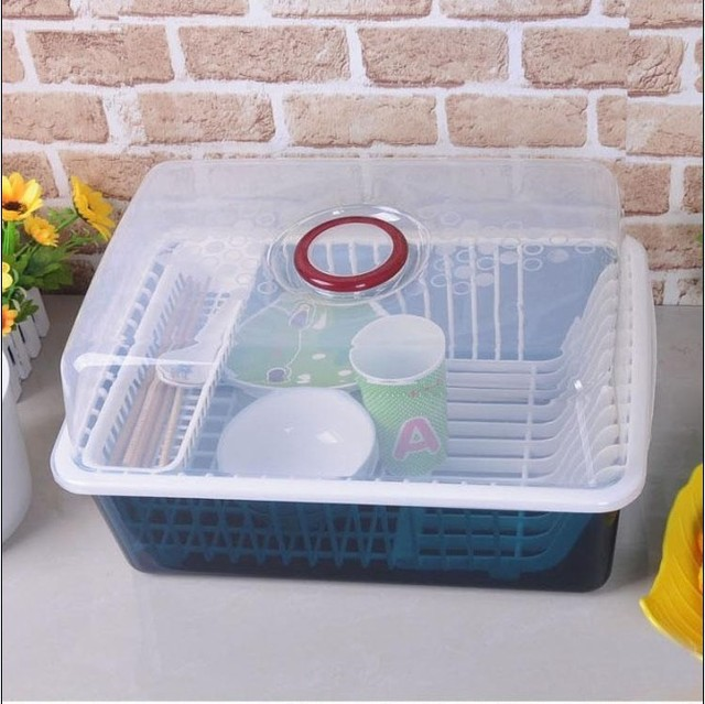 Multifunctional cutlery storage box with lid drip dish for Cutlery storage with lid