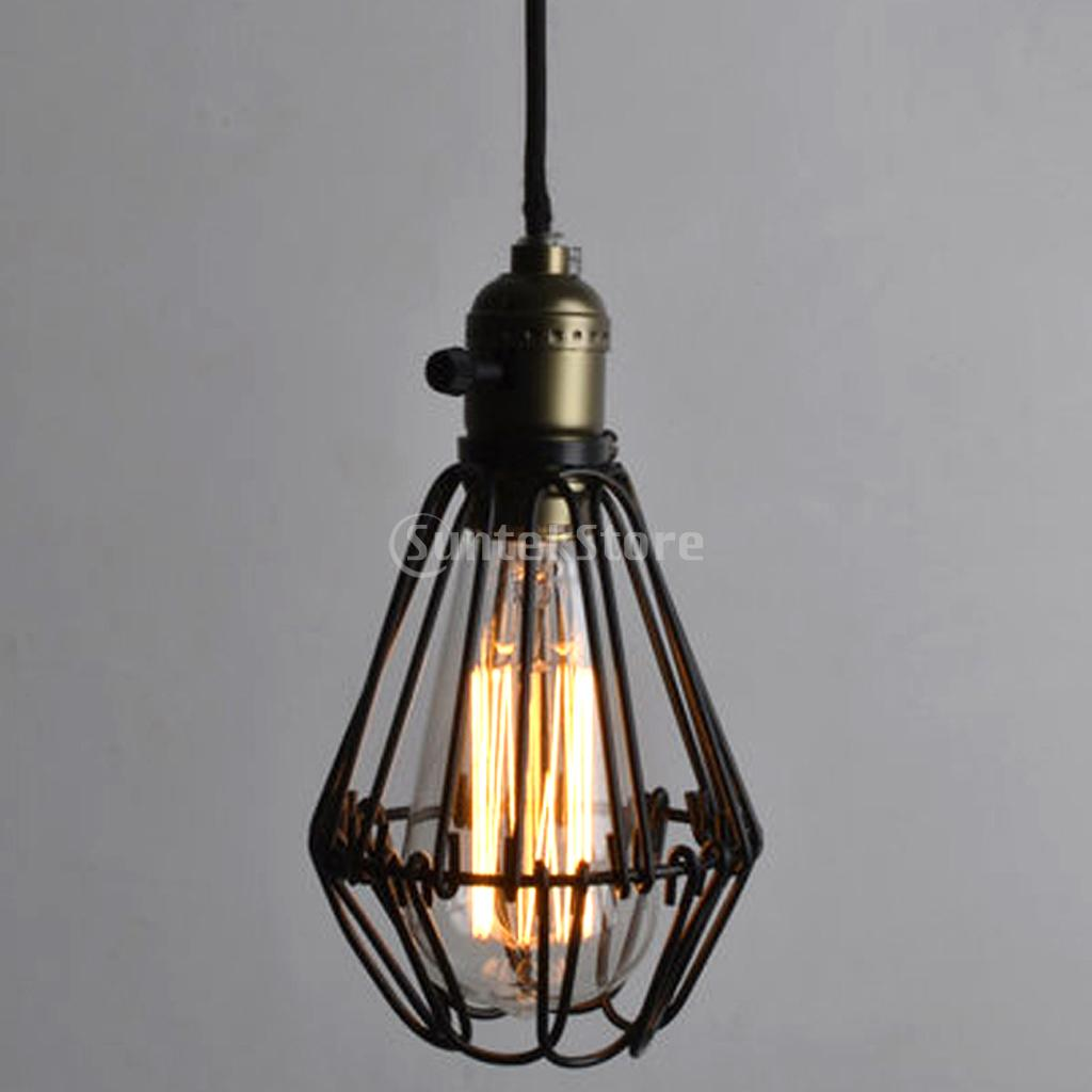 New Arrivals 2015 Retro Iron Hanging Lamp Cages Shade No Wire Pendant Light E27 Antique Brass Free Shipping(China (Mainland))