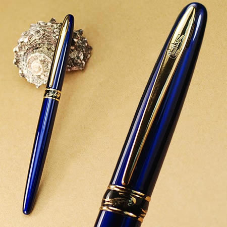 stationery school pen office supplies CROCODILE blue with crystal F Nib fountain pen high quality the fountain writing pen(China (Mainland))