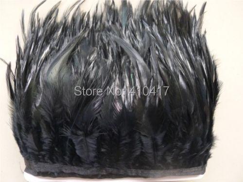 10 ярдов / серия черный цвет петух чесальное перо отделка 4 - 6 inches / 10 - 15 см страусиные перья перья лента
