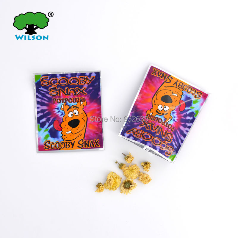 Empty bag SCOOBY SNAX potpourri s ziplock plastic incense 100pcs 3.3''x4'' potpourri smoke bag(China (Mainland))