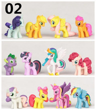 12 Pcs/SET cute little pvc  horse MLP  Sets Toys For Children Gift,Cartoon Children Action Figure Vinyl Doll Toys