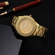 2016 High Quality Women Dress Watch Brand Luxury Fashion Casual Quartz Watch Women Stianless Steel Bling Women Rhinestone Clock