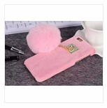 "Bling Crystal With Warm Soft Fur Furry Cell Phone Case Cover For iPhone 6 6s 4.7"" / 6 Plus 5.5"""