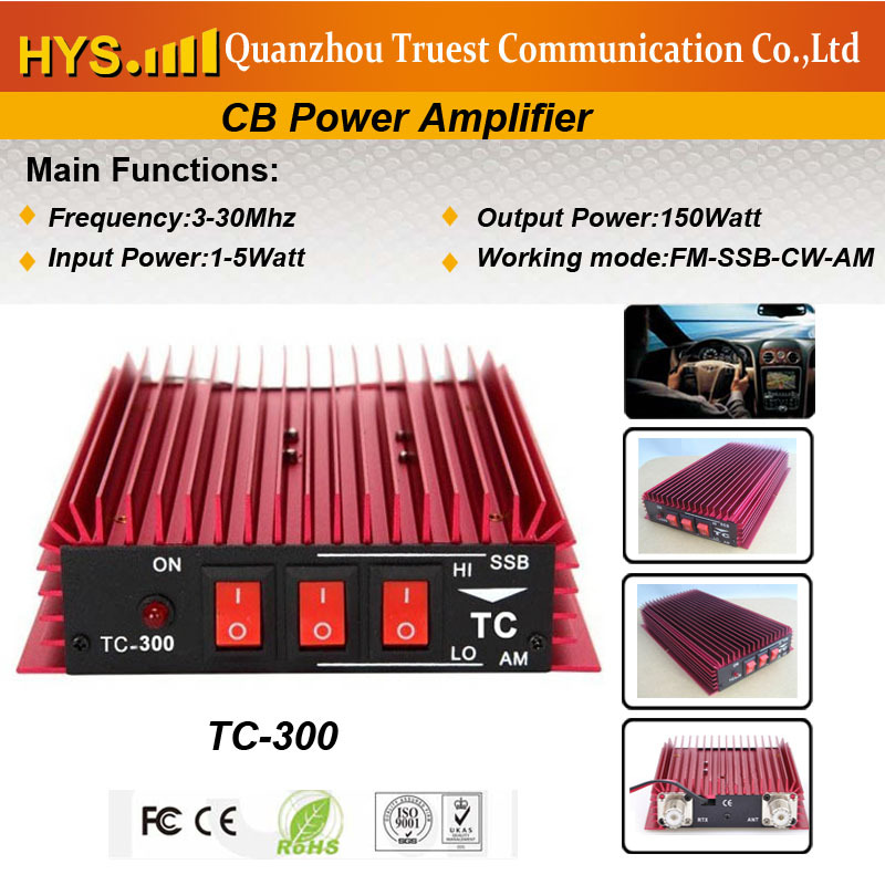Free shipping New product for 2013 CB ham radio signal Amplifier TC-300 with 300w(China (Mainland))