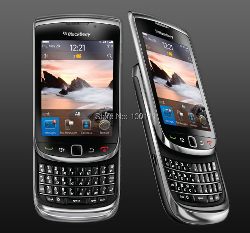 Original Blackberry 9800 Phone ,Bluetooth ,WIFI ,Touch Screen+QWERTY Keyboard refurbished Slider Cell Phone , Free Shipping(Hong Kong)