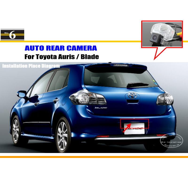 Car Camera For Toyota Auris / Blade / Rear View Camera / HD CCD RCA NTST PAL / License Plate Light OEM(China (Mainland))