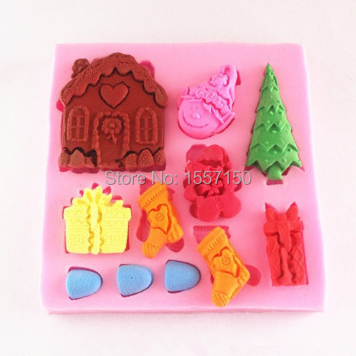 DD001 christmas Silicone Cake Chocolate Soap Pudding Jelly Candy Ice Cookie Biscuit Mold Mould Pan Bakeware Wholesales(China (Mainland))