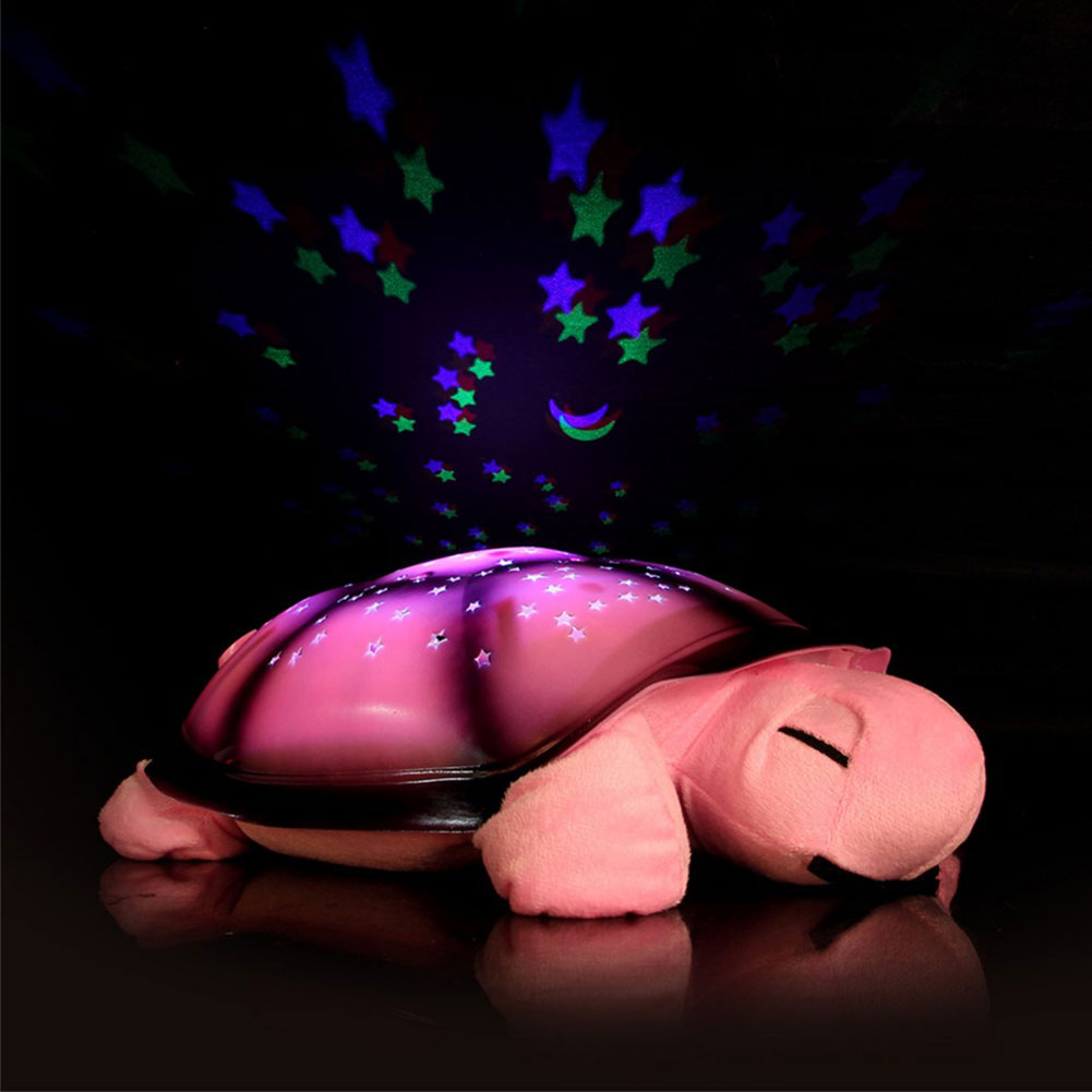Super Cute Turtle Night Lights Led Start for baby Music Lights Mini Projector 4 Colors 4 Songs Star Projector led Lamp(China (Mainland))