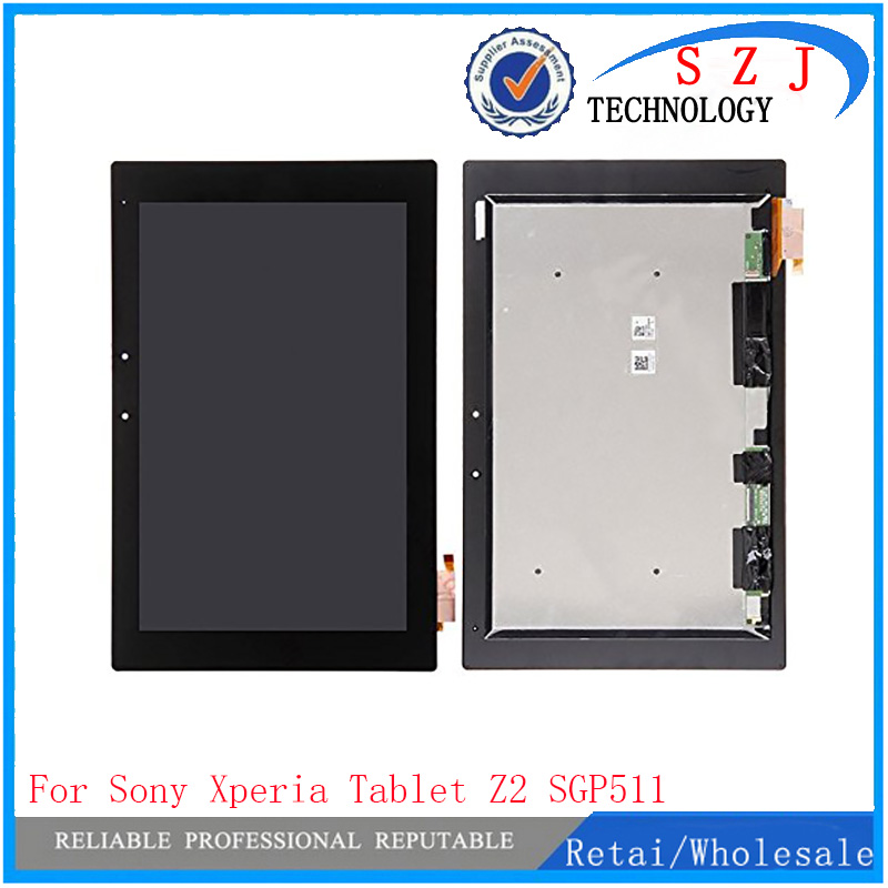 New 10.1'' inch For Sony Tablet Xperia Z2 SGP511 SGP512 SGP521 SGP541 LCD display with touch screen assembly free shipping(China (Mainland))