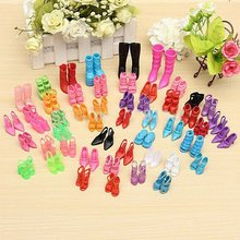40Pairs Princess Gown Dress Clothing High Heel Sandals Shoes For Barbie Doll(China (Mainland))