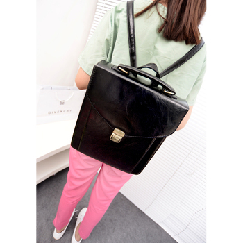 2013 backpack women's preppy style vintage messenger bag school bag women's handbag