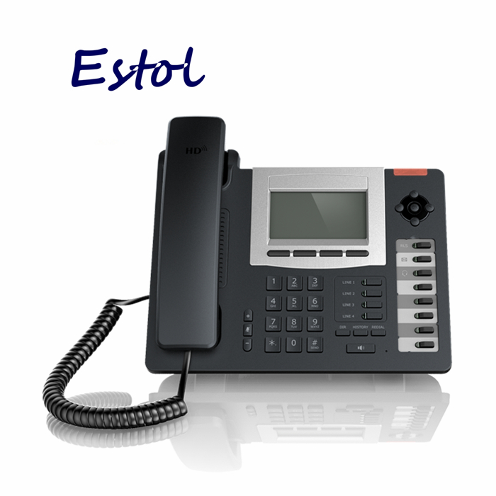 Hot sale HD Voice VoIP Phone,4 SIP lines+IAX2 line,8 BLF keys.PoE IP Phone,Asterisk compatible elastix IP Phone(China (Mainland))