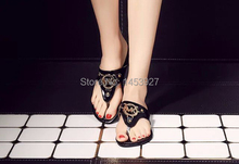2015 fashion elegant Women michaelentlys shoes lady sandals flip-flops flats sandals shoes Female detonation model of selling(China (Mainland))