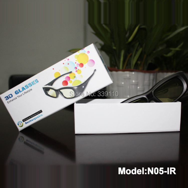 freeshipping usb rechargeable infrared communication active 3d glasses 3d shutter eyewear for philips 32PFL5507T 40PFL5507T(China (Mainland))