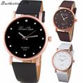 Montres Femmes 2016 Diamond Bracelet Watches Women Fashion PU Leather Wristwatch Men s Quartz Watch Woman