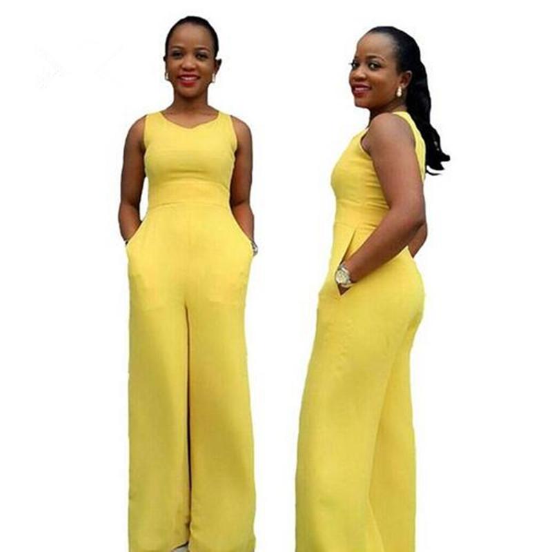 Online Get Cheap Yellow Wide Leg Jumpsuit -Aliexpress.com ...