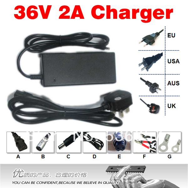 Free Shipping 36V 2A Charger Ouput 42V 2A li-ion charger superior performance electric bicycle lithium battery charger dedicated(China (Mainland))
