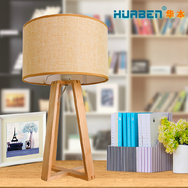 Nordic American modern simple idea style real wooden table lamp to decorate restraurant or bedroom(China (Mainland))