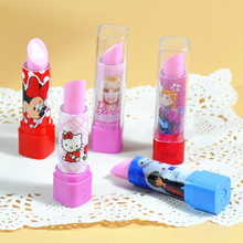 5pcs / lot lipstick shape eraser Korea creative stationery school supplies pupils prizes paragraph gift(China (Mainland))