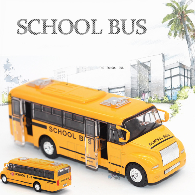 High simulation School bus 1:32 scale alloy pull back School bus model, Diecast bus cars toy Children's gift(China (Mainland))