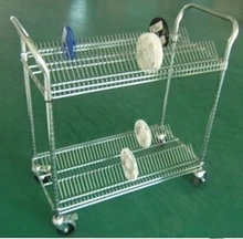 Antistatic cable pulley car shop shelves turnover Mute materials Shenzhen chrome trolley car with grab bars(China (Mainland))