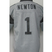 Cheap Men's 1# Cam Newton 100% Stitched Logos #59 Luke Kuechly Gray Gridiron Gray Limited High quality fast shipping(China (Mainland))