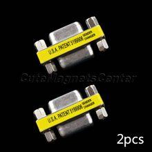 2 шт. / lot последовательный Mini адаптер F / F разъема муфты DB9 RS232 9 булавка женское в женское пол ChangerFree