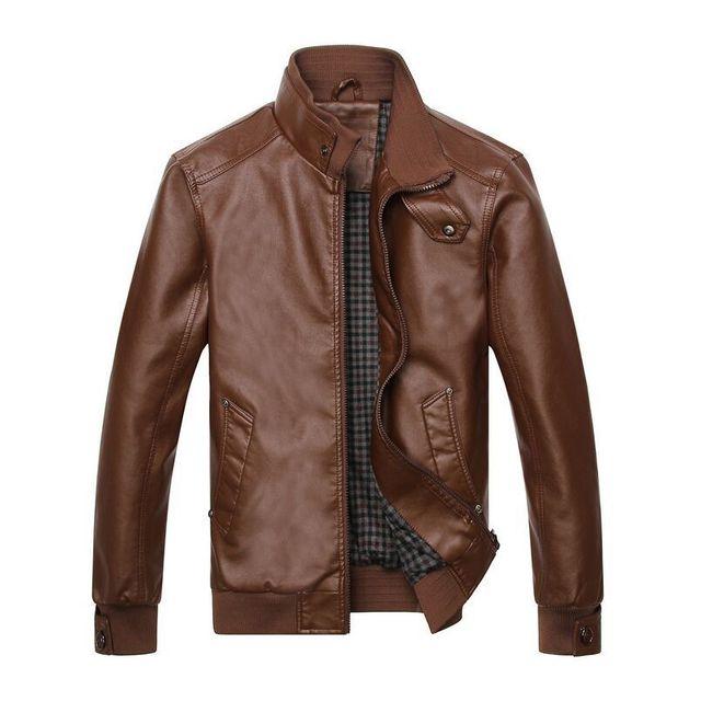 2016 новые прибытия мотоцикл кожаные куртки мужчины Jaquetas де Couro мужские осень ...