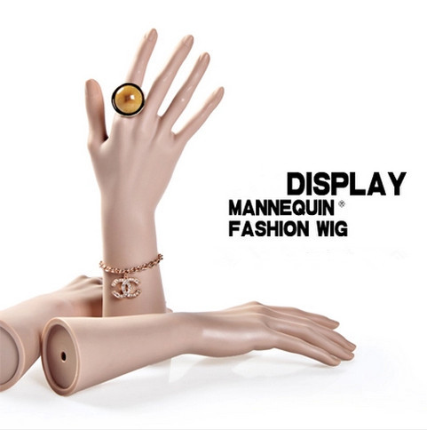 Free Shipping!!Top Level Fashion Skin Color Mannequin Hand Model High Quality For Display Rings Gloves(China (Mainland))
