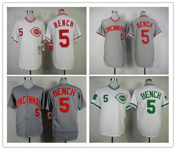 Authentic baseball jerseys cheap #5 m/xxxl cincinnati reds jerseys baseball jerseys 34 100