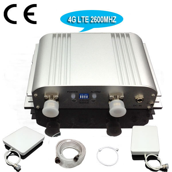 4G Signal! 65dB Mobile Signal Booster Repeater 4G 2600MHZ Cell Phone Amplifier LTE Phone Signal Extender Full sets(China (Mainland))