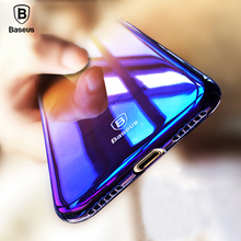Baseus Originality Case For iPhone 7 luxury Aurora Gradient Color Transparent Case For iPhone 7 Plus light Cover Hard PC Cases(China (Mainland))
