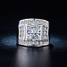 Buy large size women Engagement Ring 6 7 8 gift women silver plated Wedding luxury cz zircon jewelry new design jewellery for $2.99 in AliExpress store