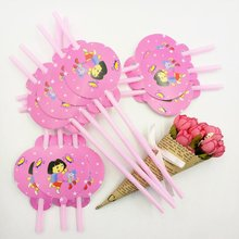 Buy 10pcs/lot Cartoon Straw Pattern Dora Theme Party Decoration Disposable Tableware Drinking Straws Party Supplies 01 for $1.44 in AliExpress store