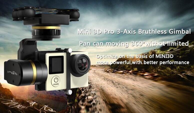 DHL Free Shipping! FeiYu New Mini 3D 3-Axis Plastic Brushless Gimbal For